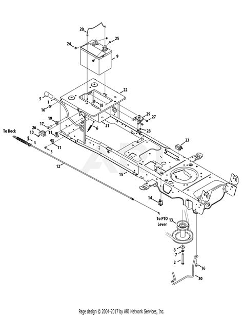 mtd axyt  parts diagram  frame electrical pto