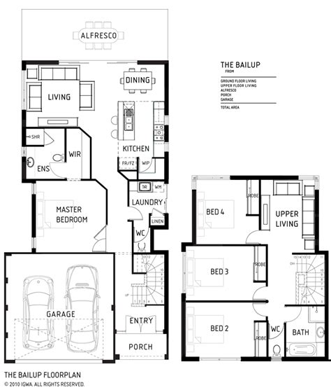 house plans double story small double storey house plans modern house