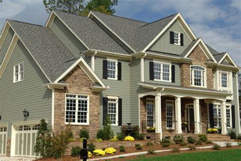 green exterior white trim black shutters accents house paint exterior