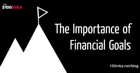 Importance Of Mba In Finance by The Importance Of Financial Goals