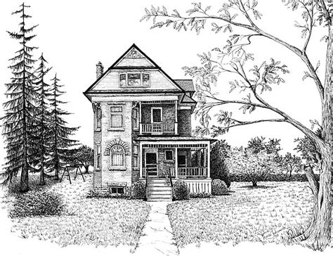 pencil drawings of houses victorian house drawing pencil pencil victorian farmhouse pen and ink drawing by renee forth