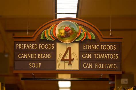 grocery aisle signage market interior signage suspende