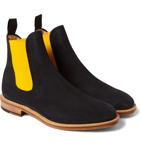 suede mens chelsea boots mcnairy new amsterdam suede chelsea boots in blue for