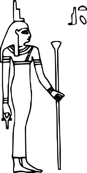 Isis Egyptian Goddess Clip Art   isis clip art free vector in open office drawing svg