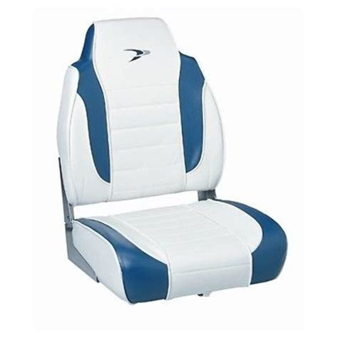 wise high back fold boat seat wd892pls1713 white navy