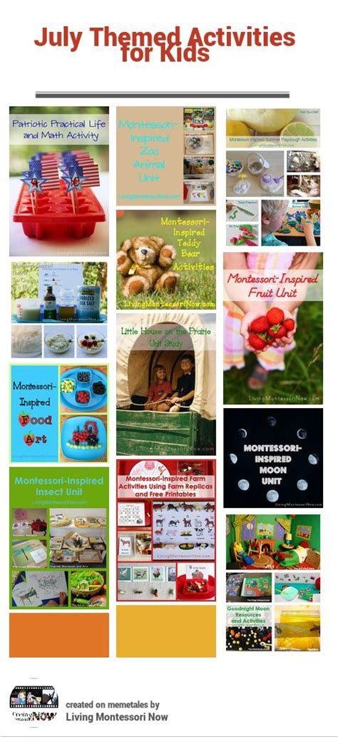 themed monthly events for kids calendar and homeschool on pinterest