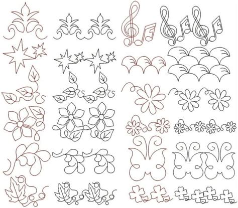 Quilting Designs For Embroidery Machine by Advanced Embroidery Designs Quilting Pattern Set
