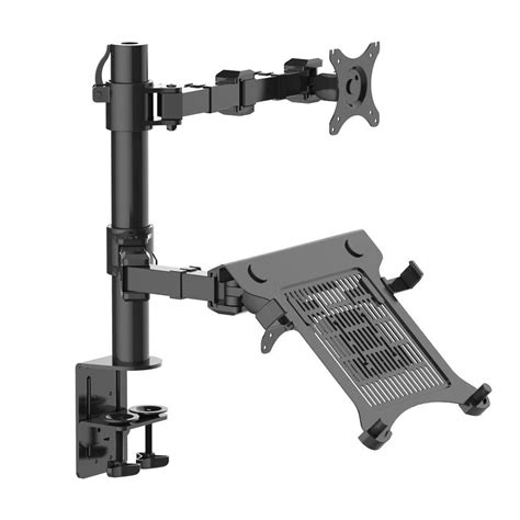 laptop desk mount fleximounts 2 in 1 dual monitor arm desk mount laptop