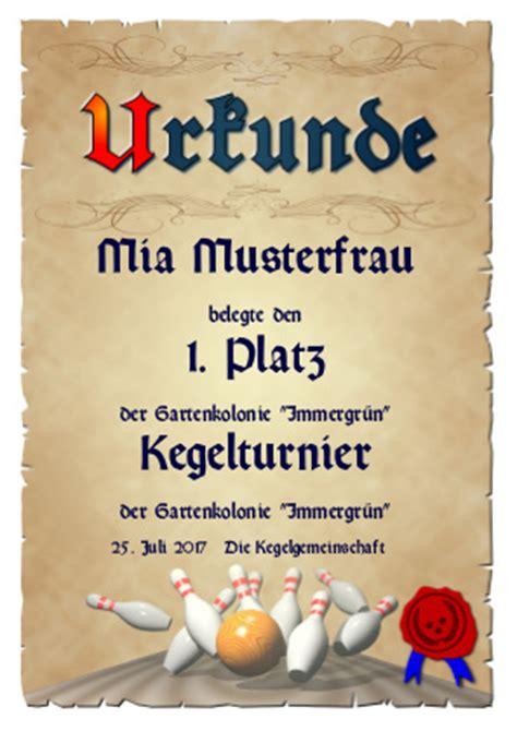 Kostenlose Vorlage Alte Schachtel Urkunde Kegeln Tage Zum Feiern