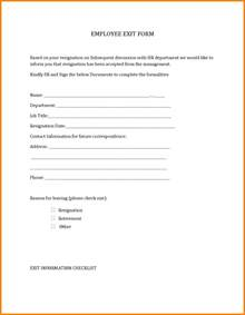 Forms Of Resignation Letter by 5 Resignation Form Ledger Paper