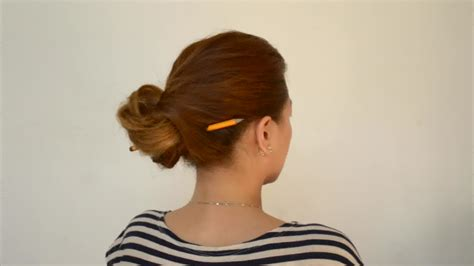 how to put in hair how to put your hair up with a pencil 9 steps with pictures