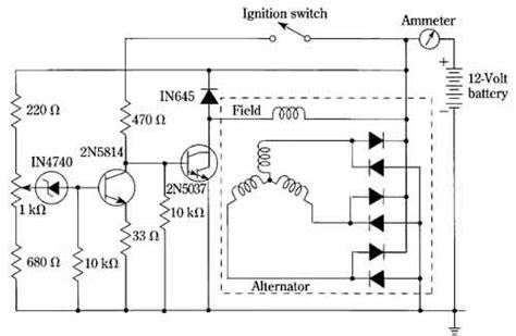 car alternator regulator circuit diagram circuit and