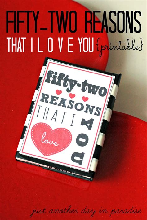 reasons to valentines day 52 reasons i you printable a pinteresting wednesday