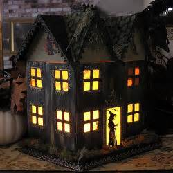 Halloween Decorations Haunted Houses Paper Mache Haunted House Flickr Photo Sharing