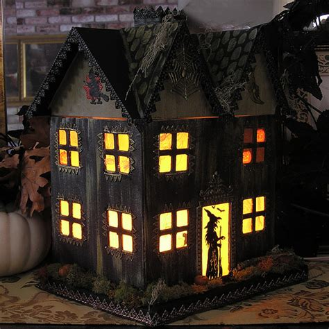 How To Make A Paper Haunted House - paper mache haunted house flickr photo