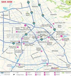 San Jose San Jose City Map Maps