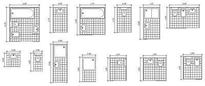 archweb bagni blocchi sanitari 2 bathroom dwg