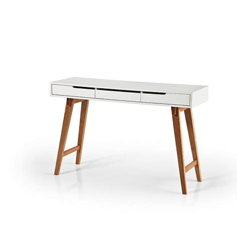 anke console desk in white with beech legs 25341 furniture