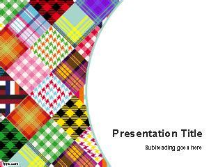 fabric templates free colored fabrics powerpoint template