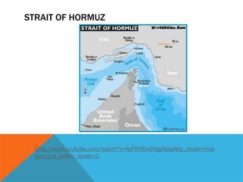 middle east map strait of hormuz ppt the middle east powerpoint presentation id 1607284