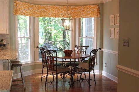box bay window curtains ideas box pleat valance in breakfast nook with bay window