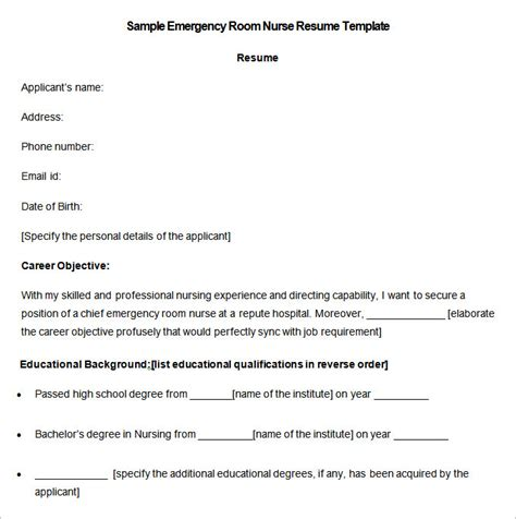 Nursing Resume Templates Free Downloads by Resume Template Free Nursing Resume Template 9 Free Sles Exles Format