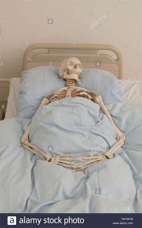 skeleton in bed c8 alamy com on reddit com