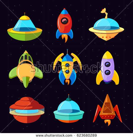 cartoon with boat in space set different vessels sea boats other stock vector