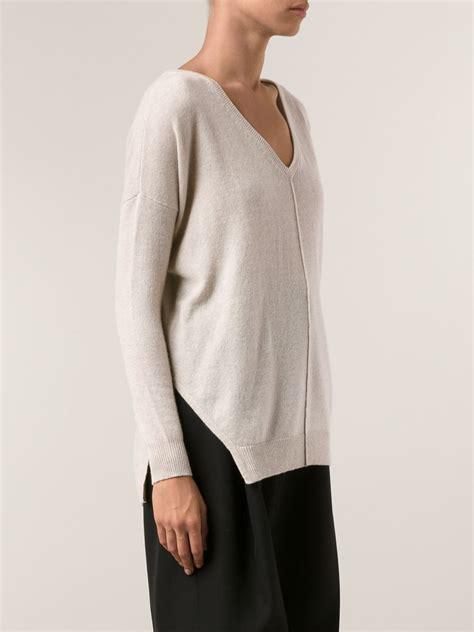 Sweater Rajutan V Neck 33 white v neck sweater sweater vest