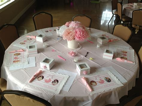 baby shower table setting baby shower table set up baby shower pinterest