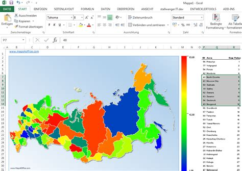 Excel Tutorial Russian | excel russia map with no labels maps4office