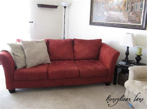 How To Make A Couch Slipcover Part 1 Honeybear Lane How To Sew A Sofa Slipcover