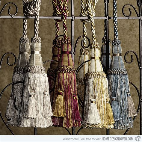 how to make decorative curtains at home accessorize curtains with 15 rope and tassel tiebacks