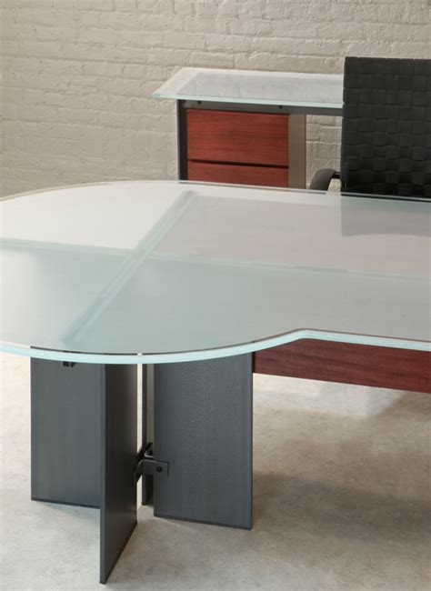 U Shaped Desk Stoneline Designs U Shaped Glass Desk