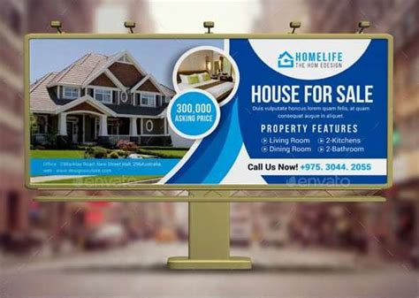 real estate billboard ad examples templates