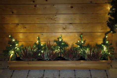 außendeko weihnachten 5xled lichterkette tanne gartenst 228 be balkon garten deko