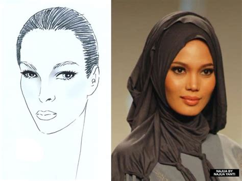 tutorial hijab pesta untuk wajah lonjong penggunaan hijab sesuai bentuk wajah tutorial pashmina