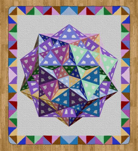 Tom Quilts by Tom Pensyl S Polyhedron Quilt