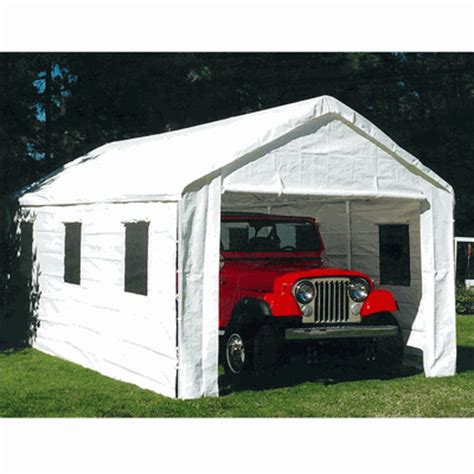 Portable Car Canopy 10 X 20 Universal Portable Garage Canopy With Enclosure Walls