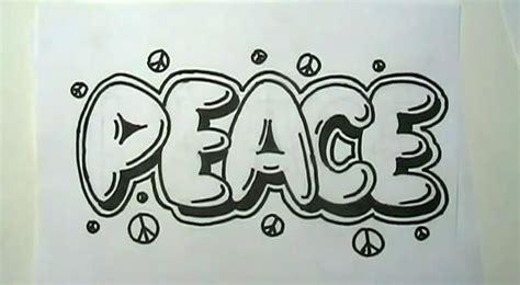 draw peace  graffiti letters curiouscom