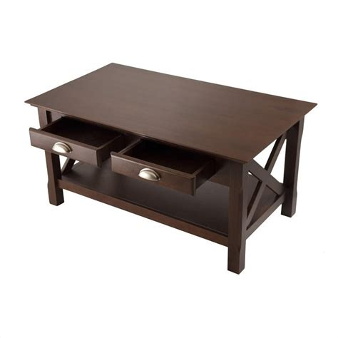 L Tables With Drawers by Coffee Table With 2 Drawers In Cappuccino Finish 40538