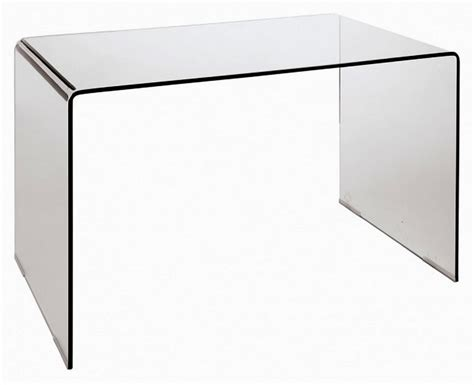 Modern Glass Desk Modern Bent Glass Office Desk Cr09 Desks