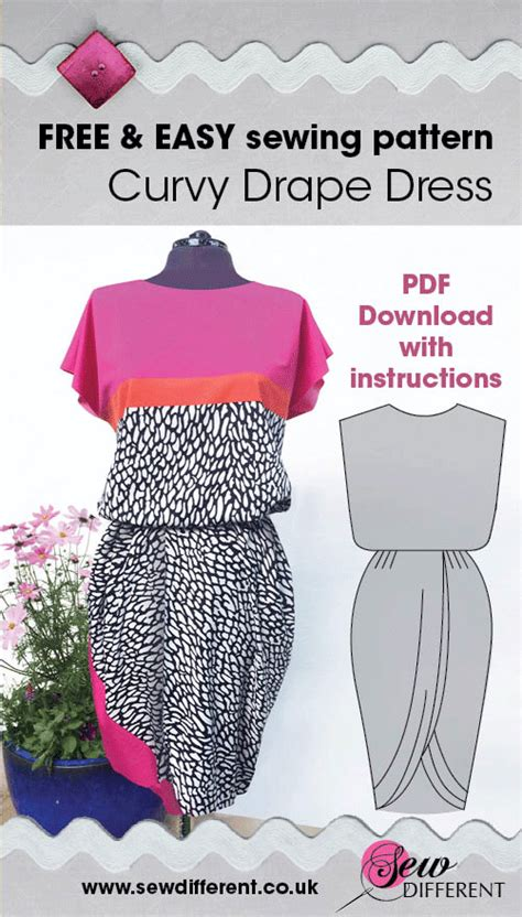 how to sew a draped dress curvy drape dress free sewing pattern with instructions