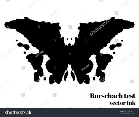 test immagini psicologia rorschach test ink blot vector illustration stock vector