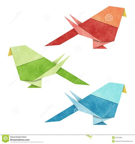 Papercraft Origami - origami bird recycle papercraft stock images image 24672684