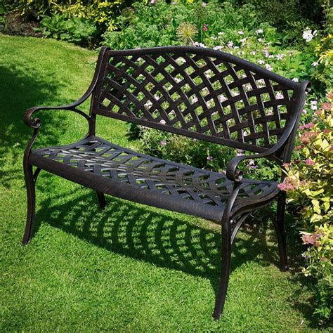 small metal garden bench 25 best ideas about metal garden benches on pinterest purple spray paint haze