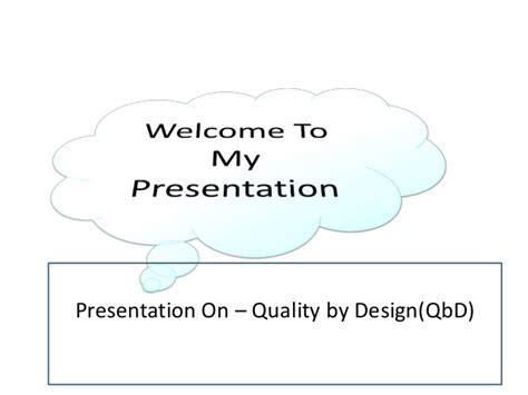 quality by design qbd powerpoint quality by design qbd