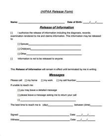 privacy release form template patient release form template