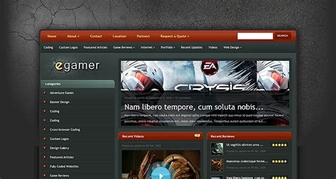 themes blogger games egamer wordpress theme