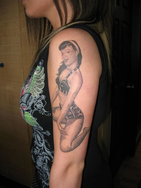 pin up tattoo sleeves